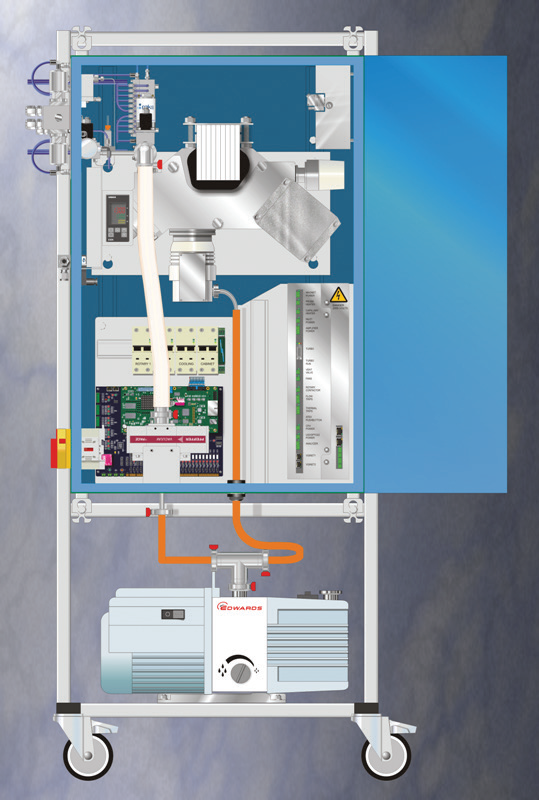 The Prima PRO Process Mass Spectrometer with the multipoint variable pressure inlet attached.