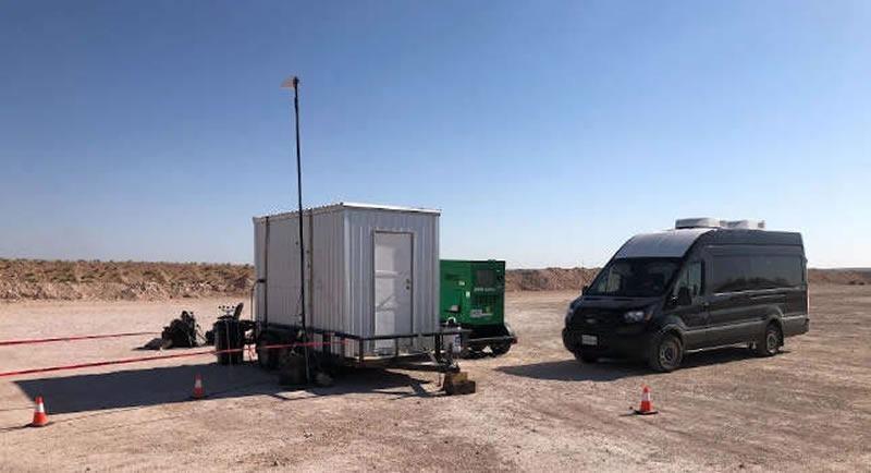 Neubrescope set up on site near well operations.