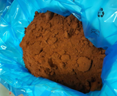 Agglomerates appearing in bags due to caking.