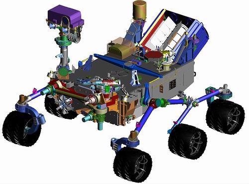 The CheMin spectrometer for chemical and mineralogical analyses in the Mars rover: equipped with piezo actuators from PI Ceramic.