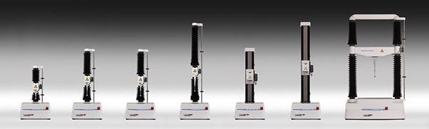 A range of Texture Analysers varying in maximum force capacity.