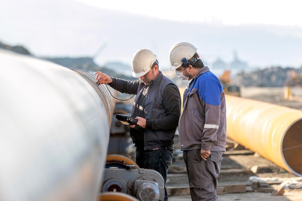 non-destructive technique, ultrasound scan on pipeline