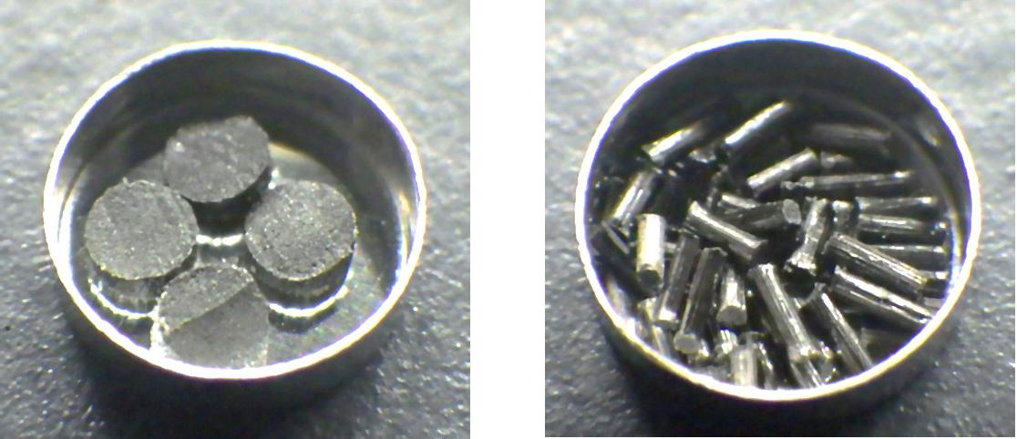 Sampling Conditions (Left: Short Fiber, Right: Continuous Fiber).