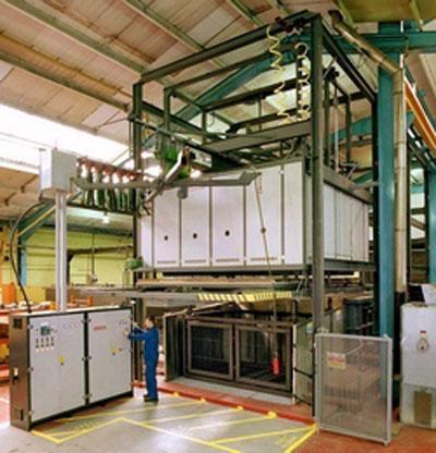 Industrial Drop Bottom Aluminium Solution Treatment Oven