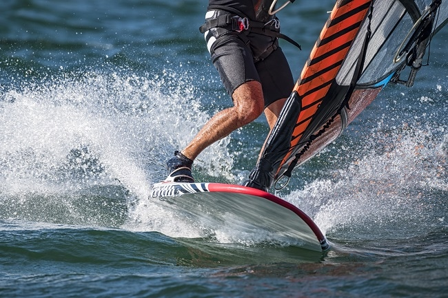 Acetal Polyoxymethylene Copolymer is used in sporting equipment such as windsurfing boards. Image Credit: ShutterStock/COLOMBONICOLA