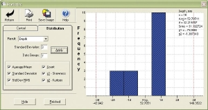 Screenshot from EP600 software showing basic SPC capabilities