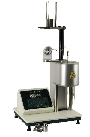 Model MP600 shown in Procedure B configuration with a motorized weight lowering platform for semi-automatic operation.