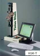 The Tinius Olsen H1K-T universal testing machine.