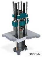 """The 3000kN Super """"L"""" hydraulic materials testing machine."""