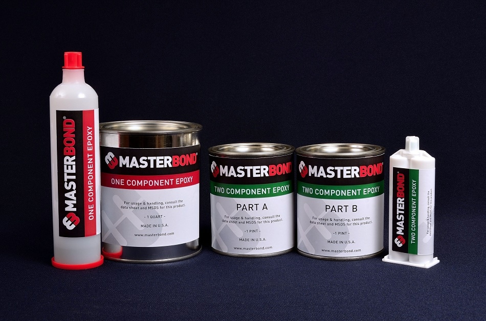 One and two component adhesives are available in a variety of packaging including cans, bottle and syringes.