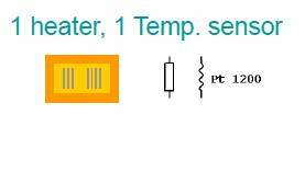 Simple resistive structure for using in CTA -mode