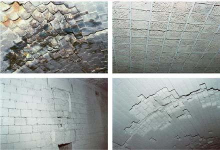 Tunnel kiln refractories that have been coated with EMISSHIELD