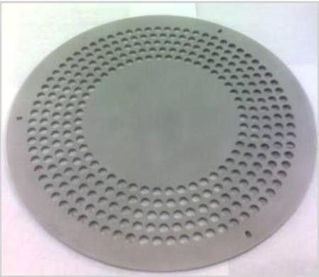 Transmission plate used with the ICP380 source