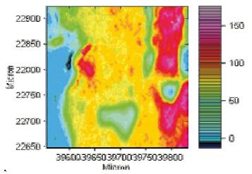 IR imaging of a sample of human skin tissue. Middle panel: transverse section (250 x 250 μm2; 15μm), measured using a Bruker HYPERION (8 cm-1 resolution, 15x, transmission). Upper panel: integrated signal intensity in the CH stretch vibration range (3000 – 2800 cm-1) = lipid distribution. Lower panel: integrated signal intensity in amide range (1720 – 1480 cm-1) = protein distribution.