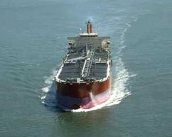 Ocean-going ship.