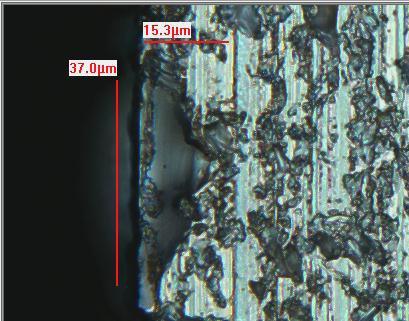 Zeta 2D image of a wafer edge.