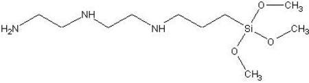 Triaminofunctional silane NH2-(CH2)2-NH-(CH2)2-NH-(CH2)3-Si(OCH3)3