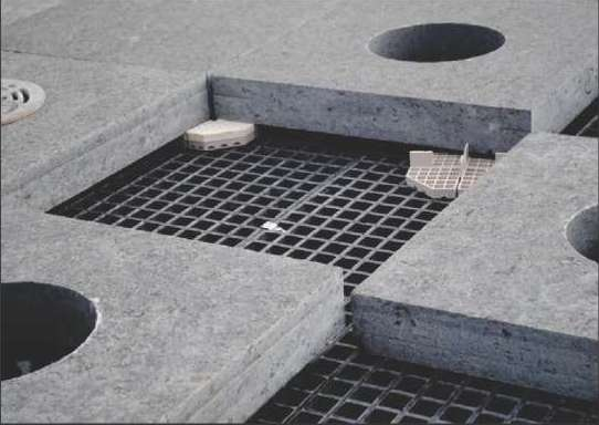 """DURAGRATE® I-K2"""" square mesh by I-K2"""" thick molded grating coupled with EXTREN® Series 525 wide flange beams as support"""