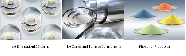 H.C. Stark offers heat dissipation LED lamps, hot zones and furnace components, and phosphor production as part of its LED range.