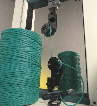 Strength testing of rope