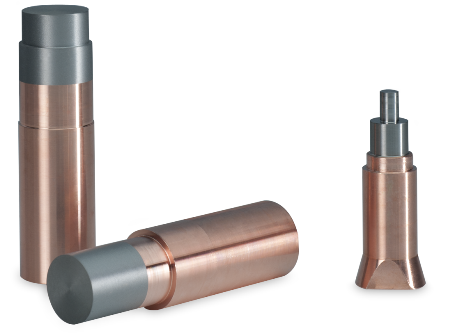 Electrodes with a copper shaft