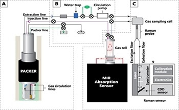 Examining Soil Gases in CO2 Sequestration with Tandem Raman and IR Spectroscopies