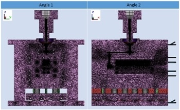 Supporting Complete Mold Analysis with Non-Matching Mesh Technology
