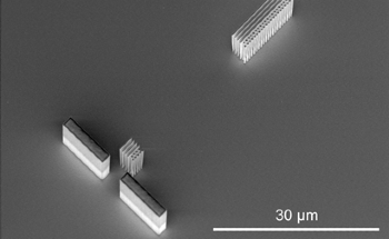 Laser-Driven Electron Accelerator on a Chip