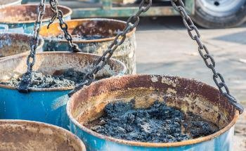 Treatment of Refinery Oil Sludge with Smoldering Combustion Reduces Waste Volume
