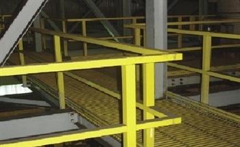 Fiberglass Walkways Survive in Super Corrosive Environments – Alternative to Metal Walkways and Rails