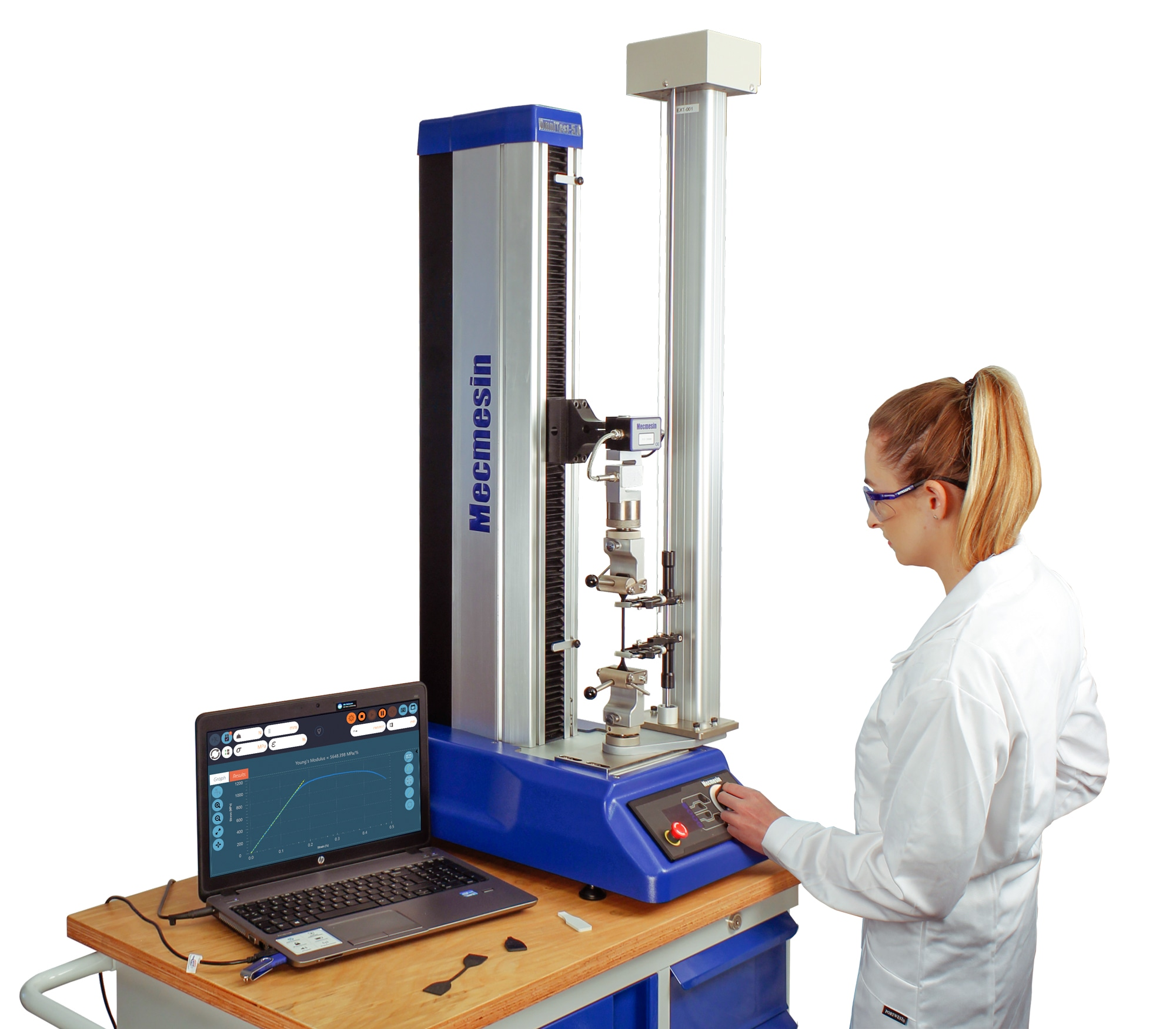 Universal Testing Machine (Tensile and Compressive Materials Testing) with VectorPro Software – OmniTest™