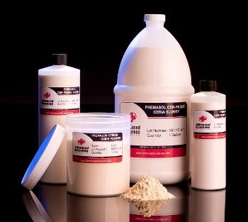 Cerium Oxide Powder Blends and Slurries