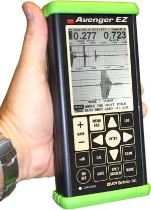 Avenger EZ Miniature Ultrasonic Flaw Detector - NDT Systems, Inc.