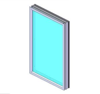 Bullet-Proof Aluminum Window Frame