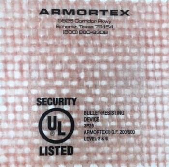 Armortex Bullet-Resistant Fiberglass Panels for Ballistics Applications