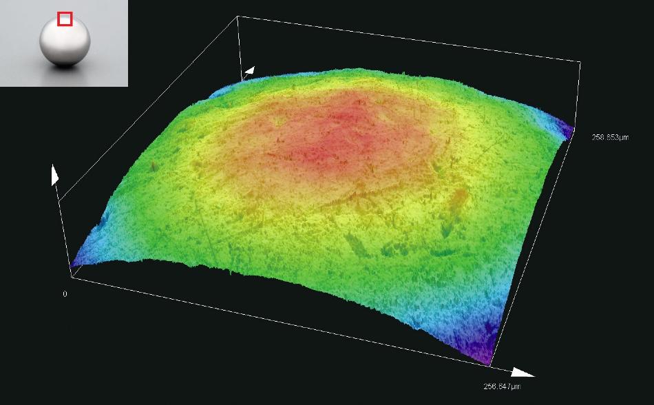 Bearing ball/profile measurement (MPLAPO50XLEXT).
