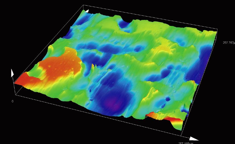 Copper plate/area roughness measurement (MPLAPON50XLEXT).