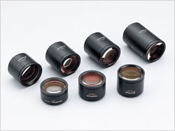 Lineup of objective lenses.
