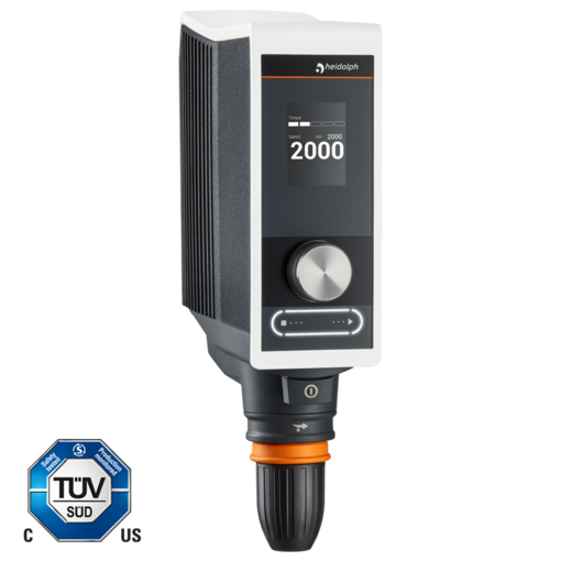 Hei-TORQUE Value 100: This model allows robust stirring up to 100 Ncm.