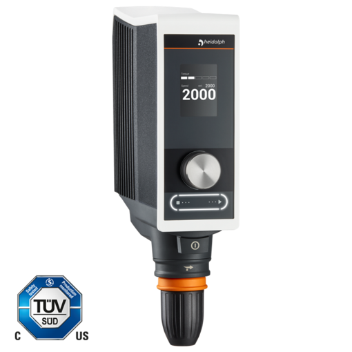 Hei-TORQUE Value 200: This model allows robust stirring up to 200 Ncm.