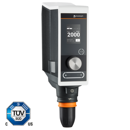 Hei-TORQUE Value 400: This model allows powerful stirring up to 400 Ncm.