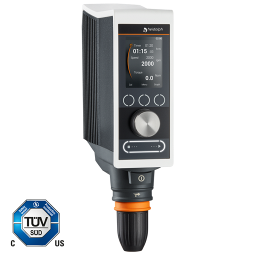 Hei-TORQUE Precision 100: This model enables powerful stirring up to 100 Ncm along with complete control.