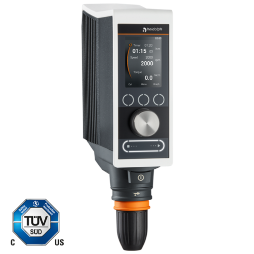 Hei-TORQUE Precision 200: This model enables powerful stirring up to 200 Ncmalong with complete control.