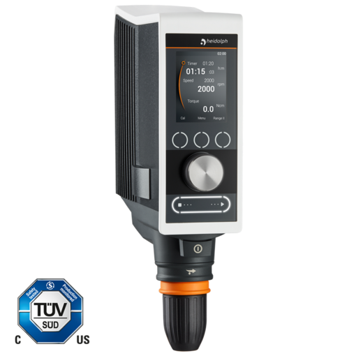 Hei-TORQUE Precision 400: This model allows powerful stirring up to 400 Ncmtogether with full control.