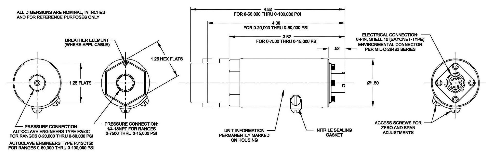 Model 245: High Range Pressure Sensor