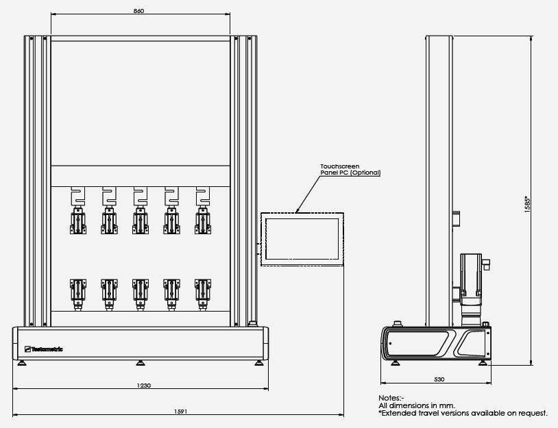 X500 MS Series of Universal Testing Machines