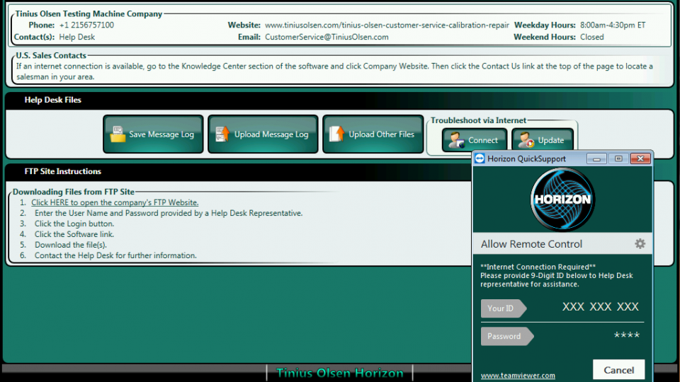 Horizon Software—Multiple Machine Control from Tinius Olsen