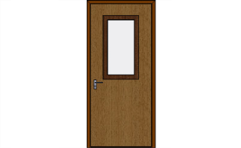 Half-Lite Bullet-Resistant Wood Veneered Door