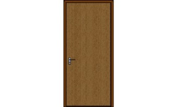 Flush Bullet Resistant Wood Veneered Door