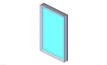Bullet-Proof Aluminum Window Frame